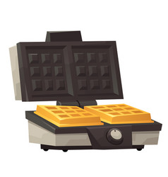 Iron waffle maker isolated on white background vector