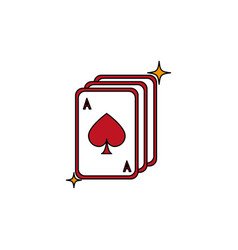isolated casino cards fill design vector image