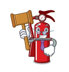 Judge fire extinguisher mascot cartoon vector