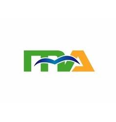 Letter MA logo vector image