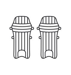 Line icon british cricket defense knee pads vector