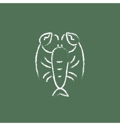 Lobster icon drawn in chalk vector image