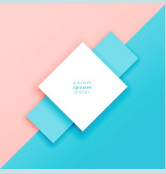 Minimal pastel background with text space vector
