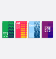modern abstract design covers set vector image