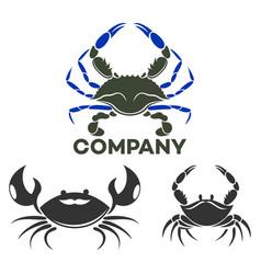 modern crab logo vector image