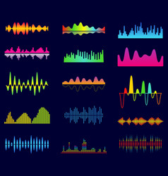 Music equalizer audio analog waves studio sound vector
