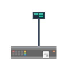 Payment computer terminal icon vector