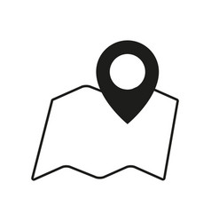 pin pointer map icon vector image