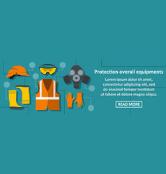 Protection overall equipments banner horizontal vector