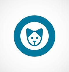 Puppy bold blue border circle icon vector