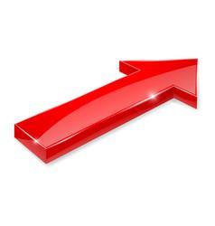 Red arrow 3d shiny icon vector