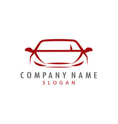 red car logo design vector image