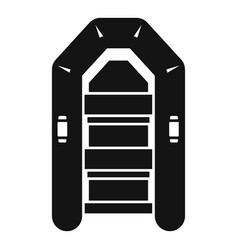 rubber inflatable boat icon simple style vector image
