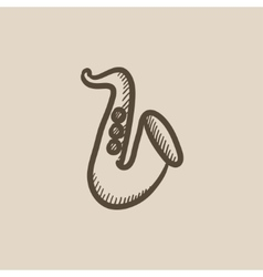 Saxophone sketch icon vector image
