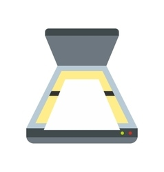 Scanner icon flat style vector image