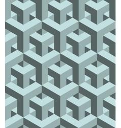 Seamless 3D pattern vector