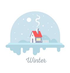 seasonal of sweet house with chimney and smoke vector image