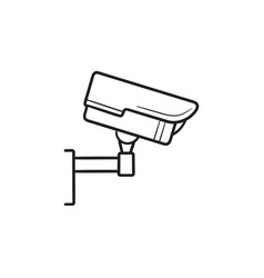 security camera hand drawn outline doodle icon vector image