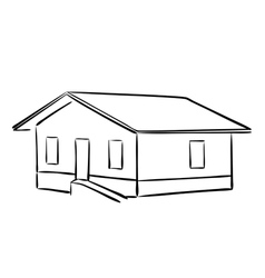 Small house - silhouette vector