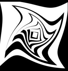 Spiral vortex shape radiating squares with spiral vector