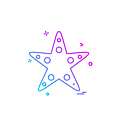 starfish icon design vector image