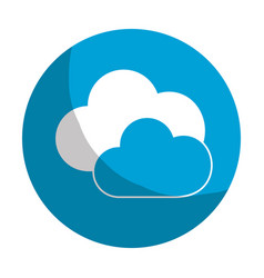 sticker nice clouds weather of sky vector image