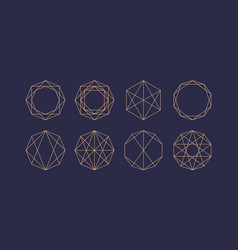 stylish geometric emblem and template for design vector image