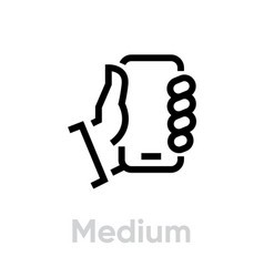 tech specs medium phone icon editable vector image