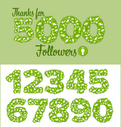 Thanks for 5000 follovers status vector