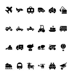 Transport Hand Drawn Doodle Icons 2 vector image