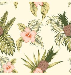 tropical botanical seamless pattern exotic design vector image
