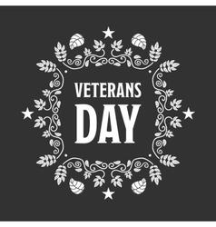 Veteran day sign vector image