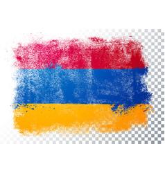 Vintage grunge texture flag armenia vector
