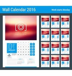 Calendar Set for 2016 Year Stationery Design Print vector image
