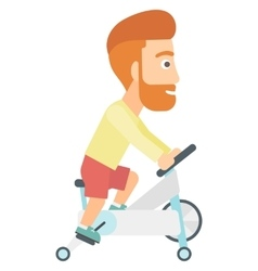 Man doing cycling exercise vector image