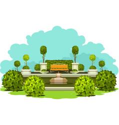 park garden plants vector image vector image