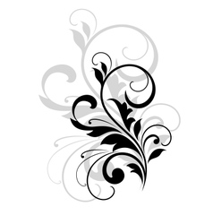 Scrolling foliate design element vector image