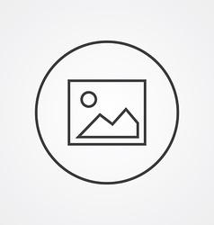 blank photo outline symbol dark on white vector image