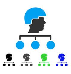 Builder management links flat icon vector