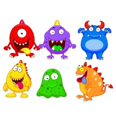 Monster cartoon collection vector image vector image