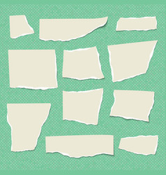 set of isolated realistic empty paper vector image vector image