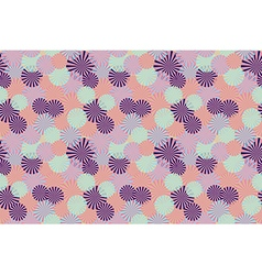 Abstract circle flower seamless pattern background vector image vector image