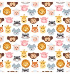 animal emotion avatar icons vector image