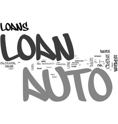 auto loan kw text word cloud concept vector image