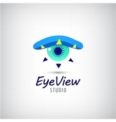 eye logo visual media sign vector image