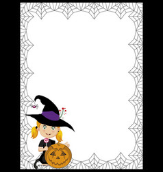 halloween template with space for text and of vector image vector image