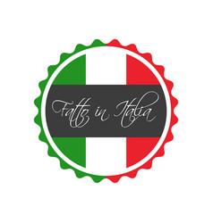 made in italy symbol italian sticker vector image vector image