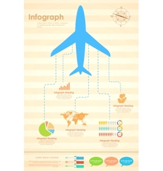 Airplane in Travel Infograph vector image vector image