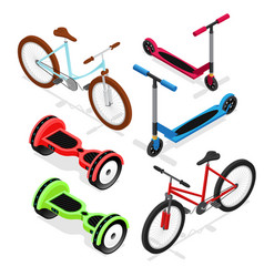 bike set isometric view vector image vector image