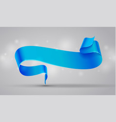 blue curved ribbon or banner vector image vector image